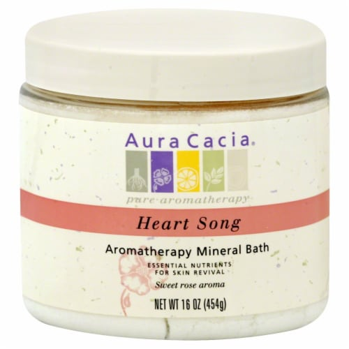 Aura Cacia Heart Song Aromatherapy Mineral Bath Perspective: front