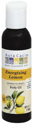 Aura Cacia Energizing Lemon Body Oil Perspective: front