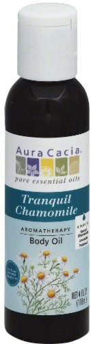 Aura Cacia Tranquil Chamomile Aromatherapy Body Oil Perspective: front