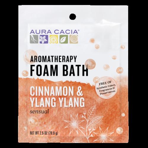 Aura Cacia Cinnamon Ylang Ylang Foam Bath Perspective: front