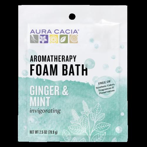 Aura Cacia Ginger & Mint Foam Bath Perspective: front