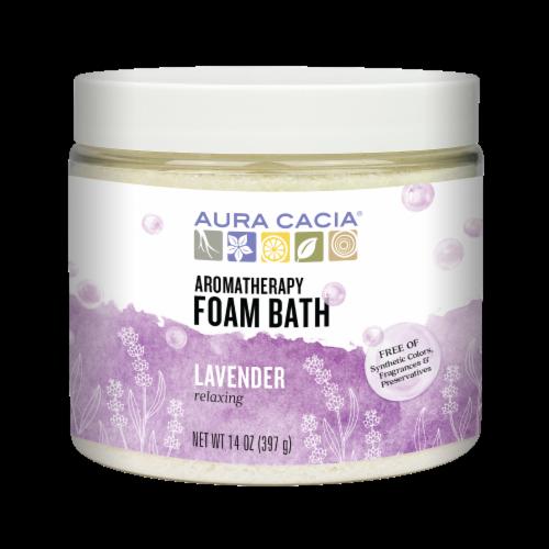 Aura Cacia Lavender Foam Bath Perspective: front