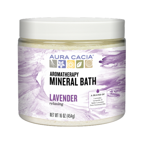 Aura Cacia Lavender Harvest Mineral Bath Perspective: front