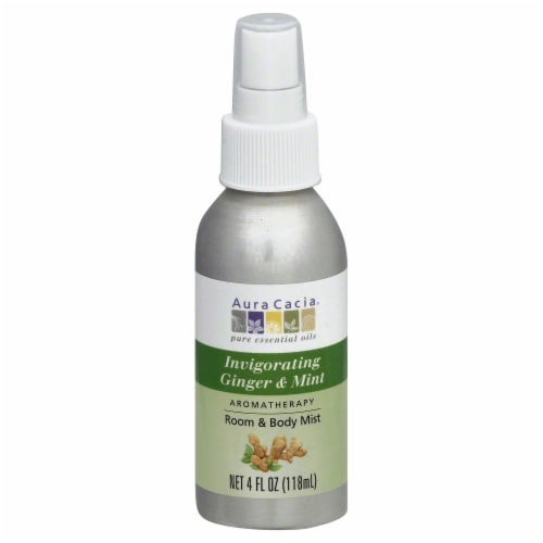 Aura Cacia Aroma Mist Ginger Mint Perspective: front