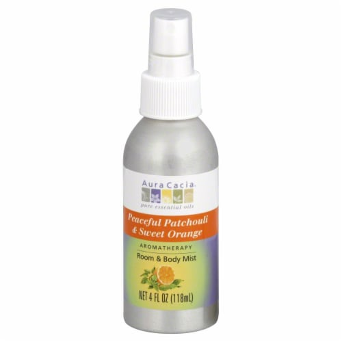 Aura Cacia Patchouli & Orange Aromatherapy Mist Perspective: front