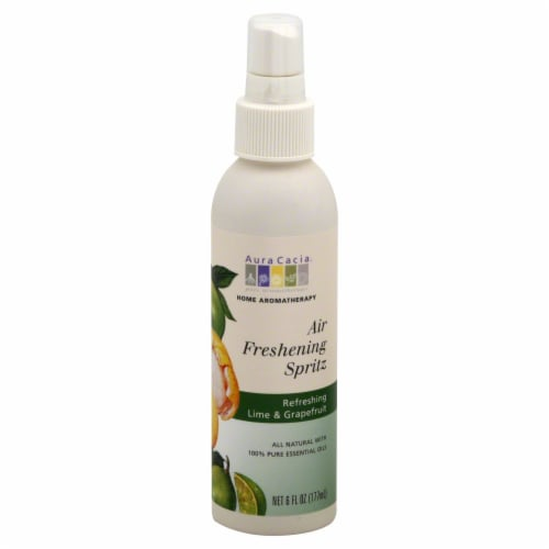 Aura Cacia Lime & Grapefruit Air Freshening Spritz Perspective: front