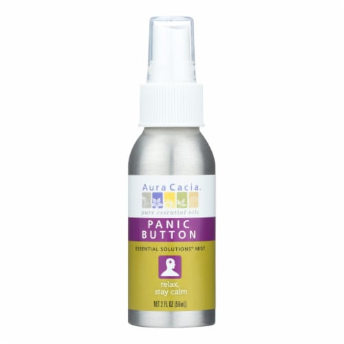 Aura Cacia Panic Button Relax Mist Spray Perspective: front