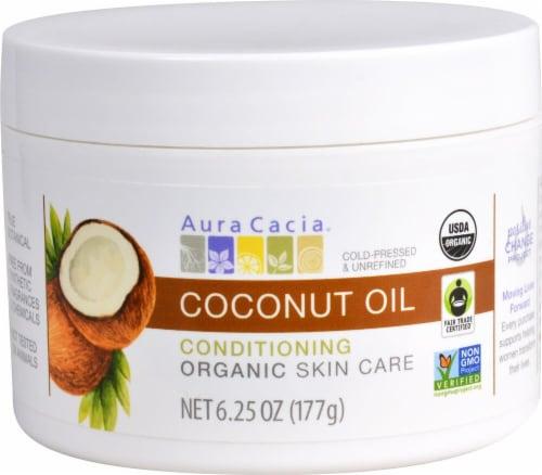 Aura Cacia Coconut Oil Skin Cream Perspective: front