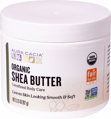 Aura Cacia Organic Shea Butter Unrefined Body Care Perspective: front