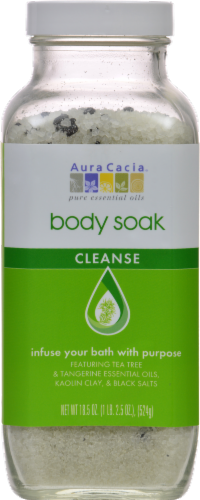 Aura Cacia Cleanse Body Soak Perspective: front