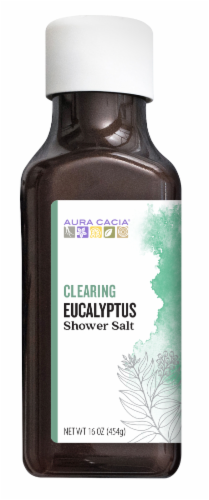 Aura Cacia Clearing Eucalyptus Shower Salt Perspective: front