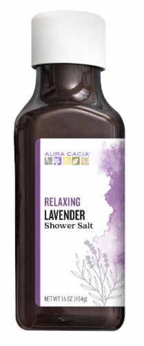 Aura Cacia Relaxing Lavender Shower Salt Perspective: front