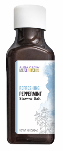 Aura Cacia Refreshing Peppermint Shower Salt Perspective: front