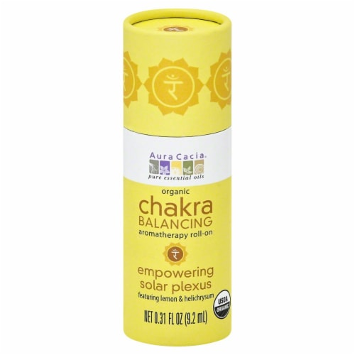 Aura Cacia Chakra Balancing Empowering Solar Plexus Roll On Perspective: front