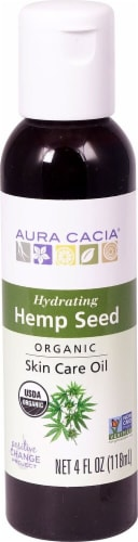 Aura Cacia Hemp Seed Organic Skin Care Oil Perspective: front