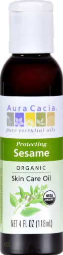 Aura Cacia Organic Sesame Oil Perspective: front