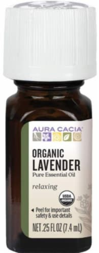 Aura Cacia Organic Lavender Essential Oil Perspective: front