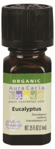 Aura Cacia Organic Eucalyptus Oil Perspective: front