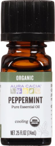 Aura Cacia Organic Peppermint Oil Perspective: front