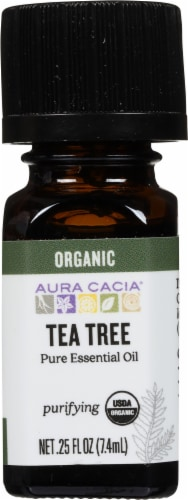 Aura Cacia Organic Tea Tree Oil Perspective: front