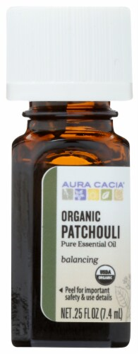 Aura Cacia Organic Patchouli Oil Perspective: front