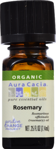 Aura Cacia Organic Rosemary Oil Perspective: front