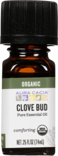 Aura Cacia Clove Bud Oil Perspective: front