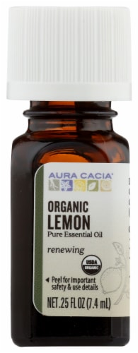 Aura Cacia Lemon Oil Perspective: front