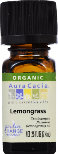 Aura Cacia Organic Lemongrass Oil Perspective: front