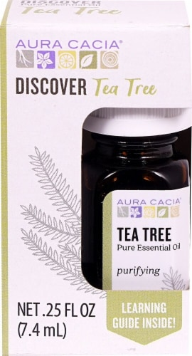 Aura Cacia Discover Tea Tree Pure Essential Oil Perspective: front