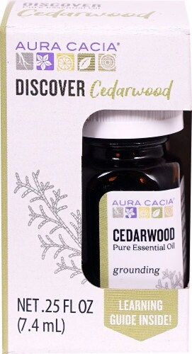Aura Cacia Discover Cedarwood Pure Essential Oil Perspective: front