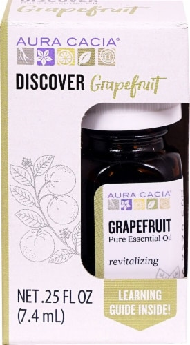 Aura Cacia Grapefruit Pure Essential Oil Perspective: front