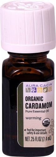 Aura Cacia  Organic Pure Essential Oil Cardamom Perspective: front