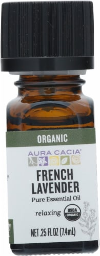 Aura Cacia Organic French Lavendar Pure Essential Oil Perspective: front