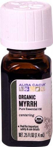 Aura Cacia Organic Myrrh Pure Essential Oil Perspective: front