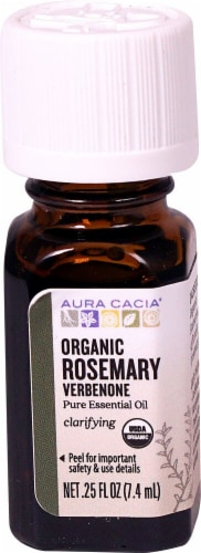 Aura Cacia Organic Rosemary Verbenone Pure Essential Oil Perspective: front