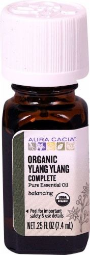 Aura Cacia Organic Ylang Ylang Complete Pure Essential Oil Perspective: front
