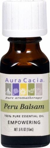 Aura Cacia Peru Balsam Pure Essential Oil Perspective: front