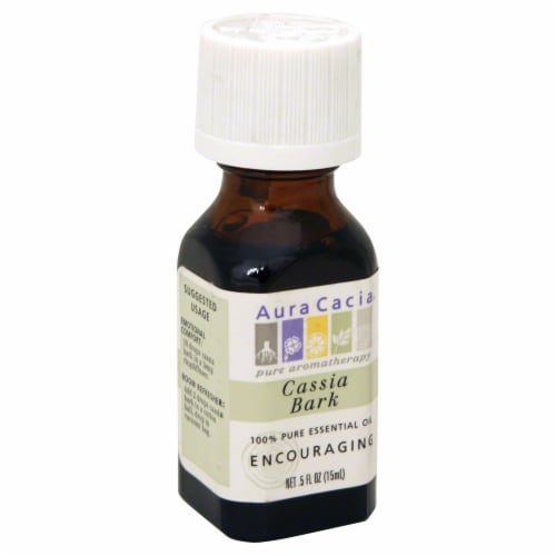 Aura Cacia Cassie Bark Pure Essential Oil Perspective: front