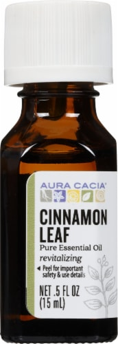 Aura Cacia Cinnamon Leaf Essential Oil Perspective: front