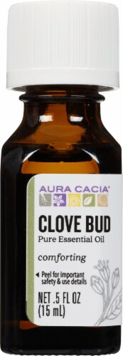 Aura Cacia Clove Bud Essential Oil Perspective: front