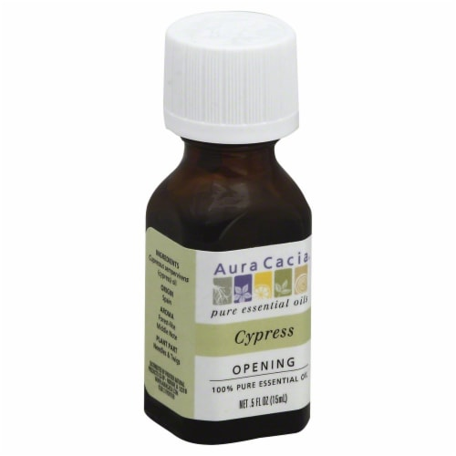 Aura Cacia Cypress Oil Perspective: front
