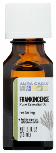 Aura Cacia Frankincense Essential Oil Perspective: front