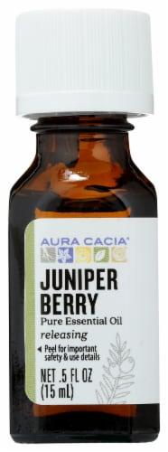 Aura Cacia Juniper Berry Essential Oil Perspective: front