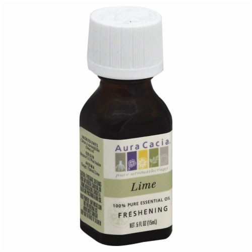 Aura Cacia Lime Essential Oil Perspective: front