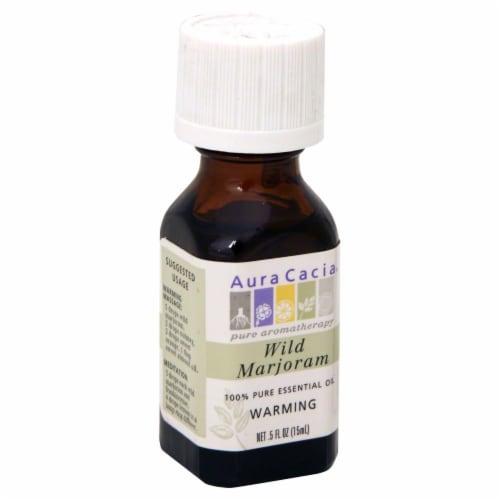 Aura Cacia Wild Marjoram Pure Essential Oil Perspective: front