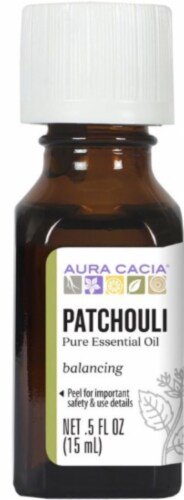 Aura Cacia Patchouli Essential Oil Perspective: front