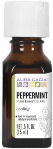 Aura Cacia Peppermint Essential Oil Perspective: front