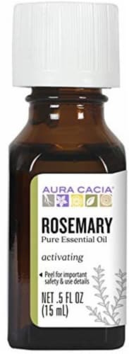 Aura Cacia Rosemary Essential Oil Perspective: front