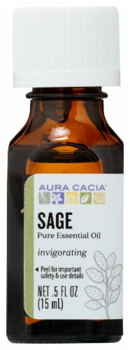 Aura Cacia Sage Thought-Provoking Essential Oil Perspective: front
